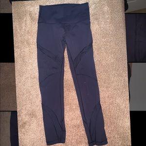 lululemon high waisted black cut out leggings